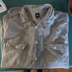GAP Men's size M long sleeve button down